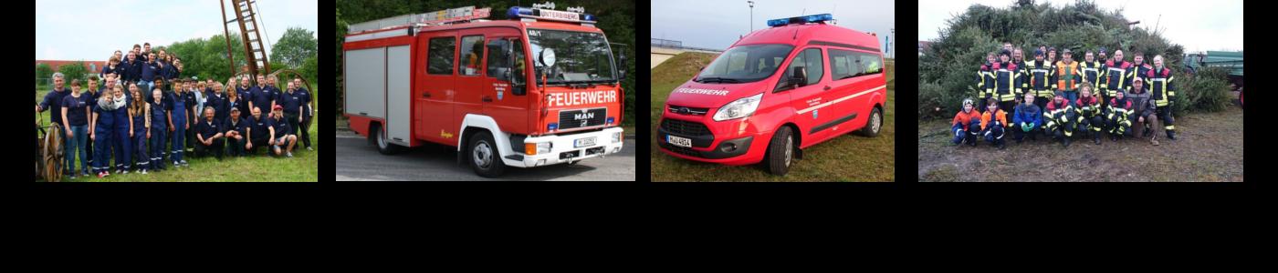 45 aktive Feuerwehrleute mit 3 Fahrzeugen